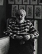 Charles Frederick Ramsey in his home, c. 1950. Photo by Jon Vochon. Image courtesy of<em> T</em><em>he </em><em>New Hope Gazette</em>.