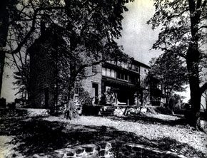The Raymonds' Bucks County home. Image courtesy of Mr. Stephen Shilowitz, A.I.A., Curator, Antonin Raymond Travel Exhibition.
