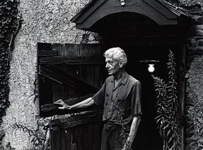 Photograph of Charles Rudy by Betty Owens and John Shuman. Nancy Hellebrand, Artists in Bucks County, Summer 1978. Courtesy of the James A. Michener Art Museum archives.