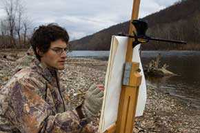<p>Daniel Anthonisen on the Delaware River. Photography by Carla Klouda. Image courtesy of the artist.</p>