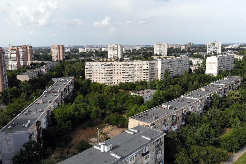район Нові будинки з висоти пташиного польоту
