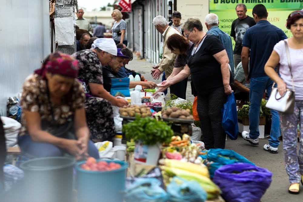 Уличная торговля Сыхов