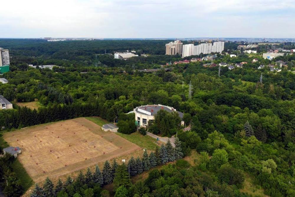 Вид с висоты на Павлово Поле