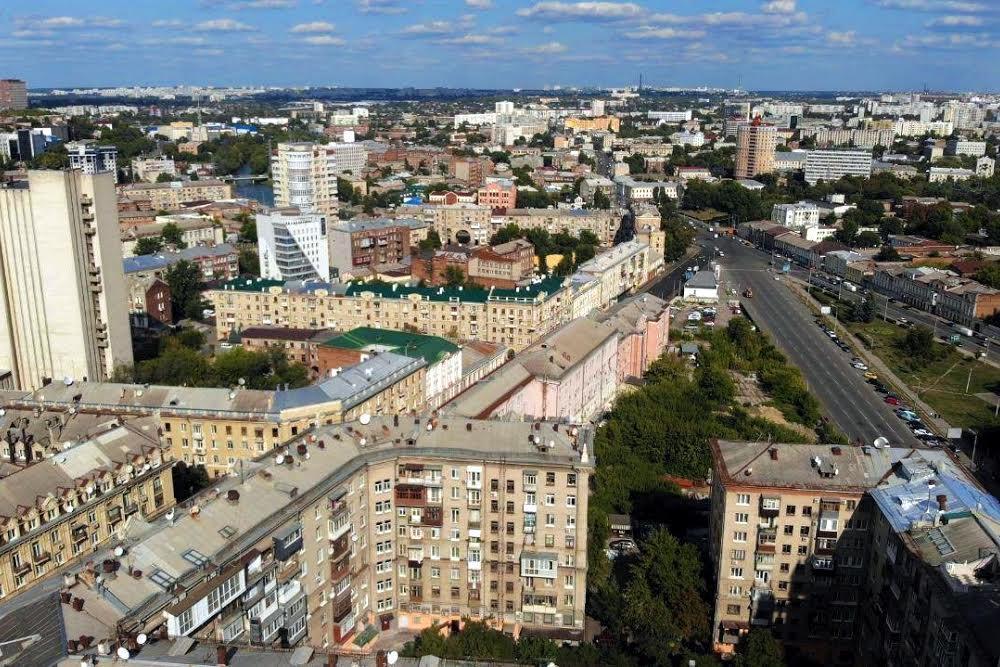 Вид на Центр Харькова с высоты