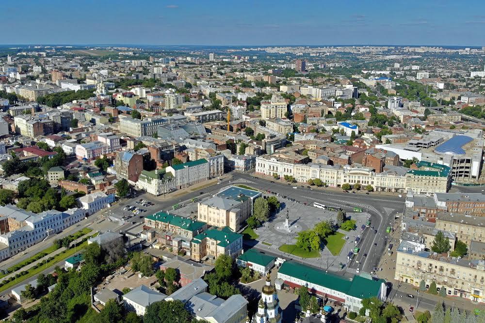 Центр Харькова с высоты