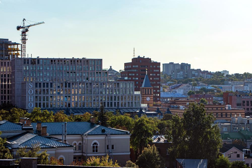 Панорама центра города Днепр