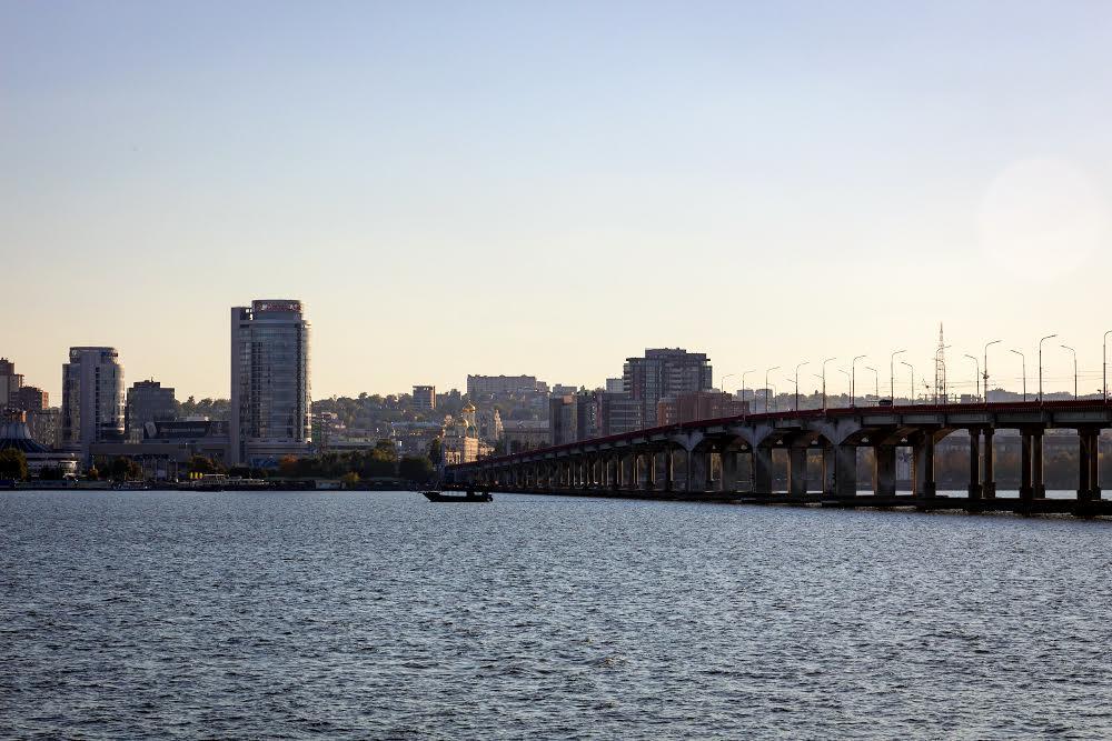 Мост через Днепр Солнечный