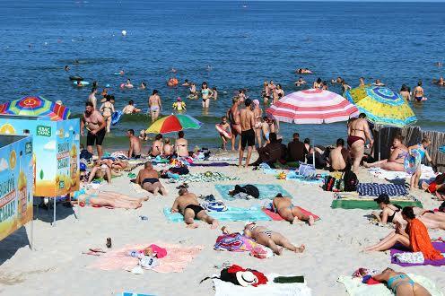 Пляж  Большой Фонтан в Одессе