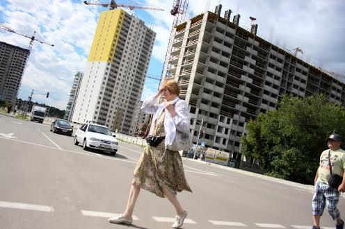 На вулицях в місті Бровари