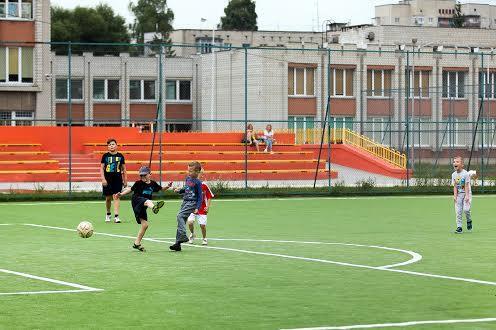 Футбольное поле на  Левандовке