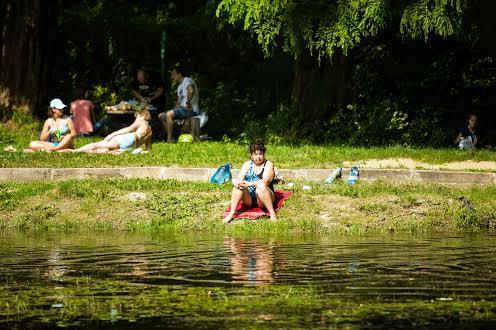 Искусственное озеро в парке «Погулянка»