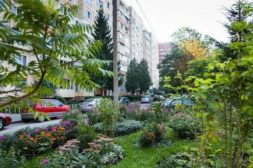 Современный микрорайон во Львове Наукова