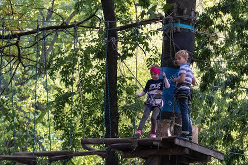 Верёвочный парк в Нагорном