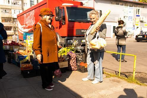 Стихийный рынок на  Рясном