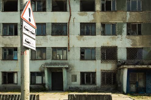 Зруйнований ЛАЗ Боднарівка