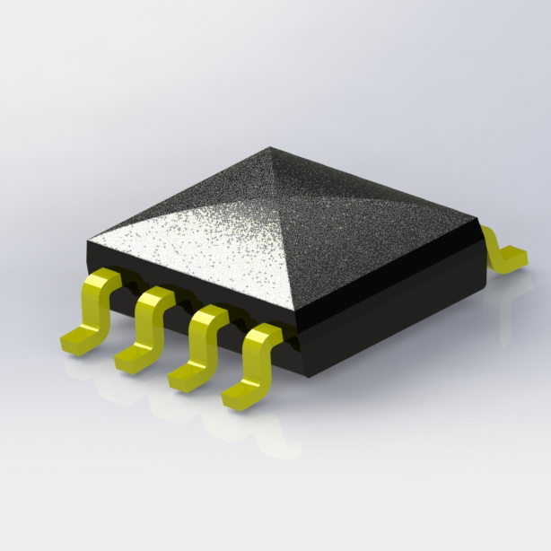 Glob Top Transistor Output Gull Wing Dual Channel Optocoupler