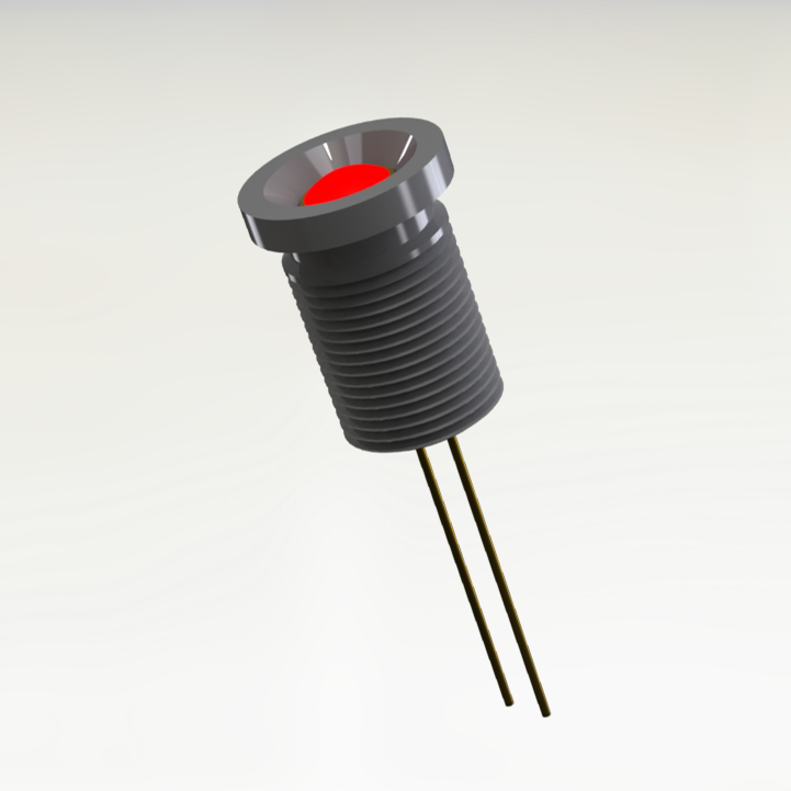 High Bright Low Power Hermetic LED Indicator