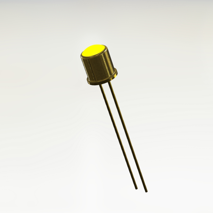JAN1N6610 Yellow Hermetic LED Indicator