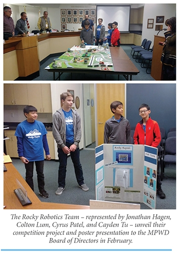 Local Youth Robotics Team Presents Research Project To Mpwd Mid