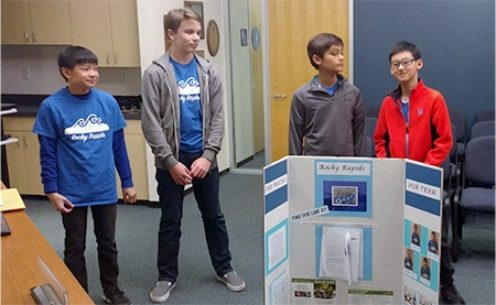Local Youth Robotics Team Presents Research Project