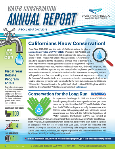Cover of Water Conservation Annual Report
