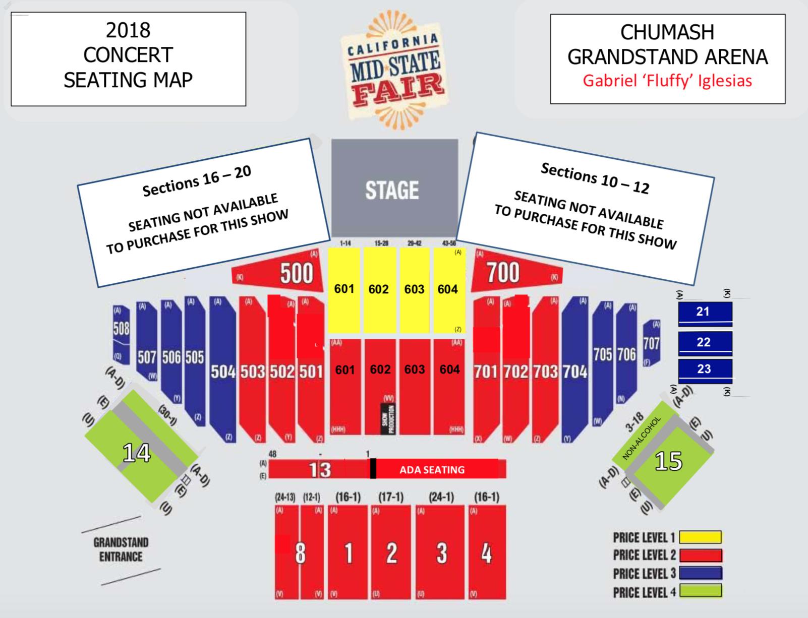 Seating maps california mid state fair