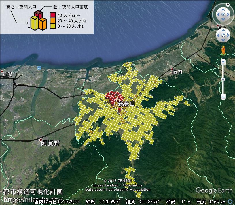 都市構造可視化計画 | 新潟県新発田市の詳細