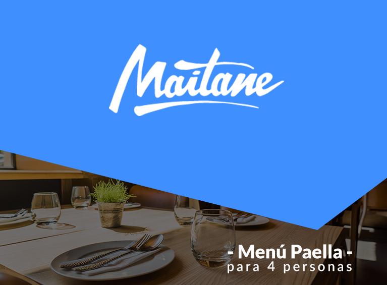 Menú Paella para 4  personas