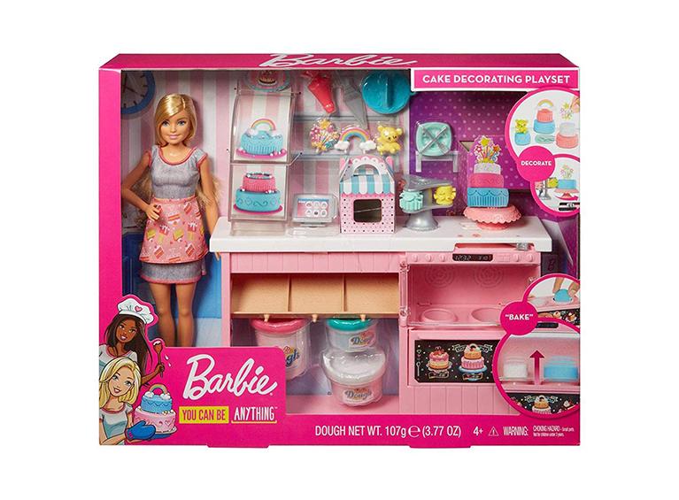 Muñeca Barbie decoradora de pasteles