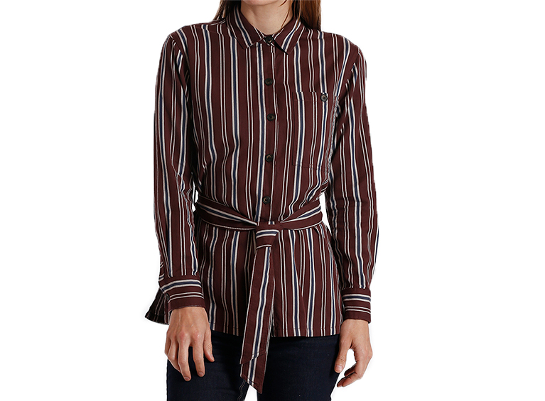 Camisa Belted stri