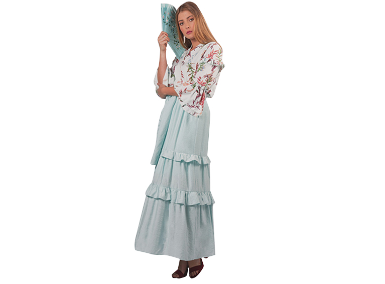 Falda larga con boleros