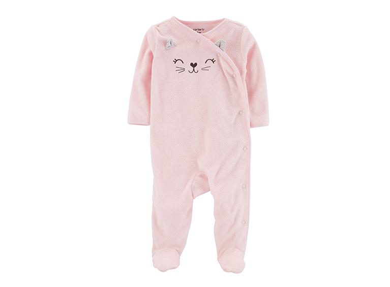 Pijama Cat Side-Snap Terry Sleep & Play