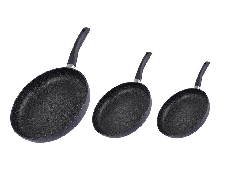 Set de 3 sartenes black