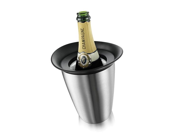 Enfriador de champagne acero inoxidable