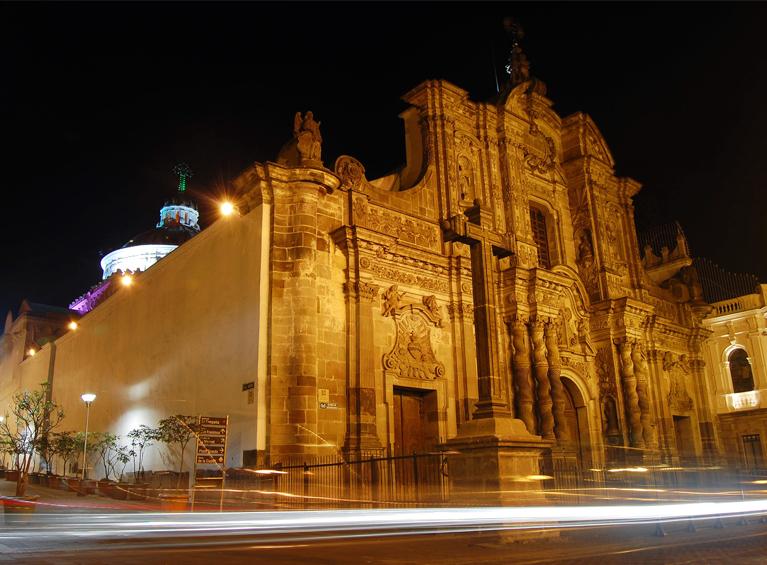 Visita nocturna a Quito con cena