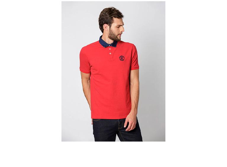 Camiseta Polo Denim Neck