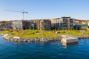 Bilde av Bjerkaker Sjøpark.