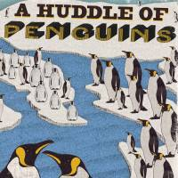 MinaLima - A Huddle of Penguins Print