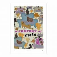 MinaLima - A Comfort of Cats Print