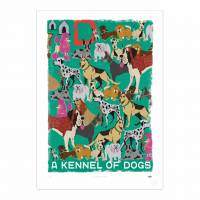 MinaLima - A Kennel of Dogs Print