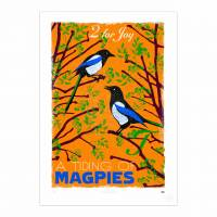 MinaLima - A Tiding of Magpies - Joy Print