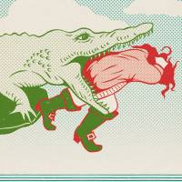 MinaLima - Peter Pan - Crocodile and Hook Print