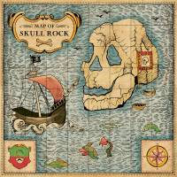 MinaLima - Peter Pan - Map of Skull Rock Print