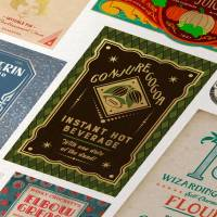 MinaLima - Sticky Trainers from Weasleys' Wizard Wheezes Print