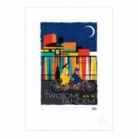 MinaLima - A Twosome on a Tandem - Girl + Girl Print