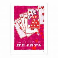 MinaLima - A Flutter of Hearts Print
