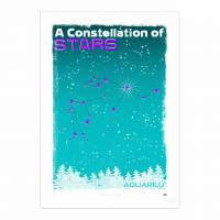 MinaLima - A Constellation of Stars - Aquarius Print