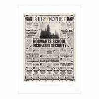 MinaLima - The Daily Prophet - 'Hogwarts School Increases Security' Print