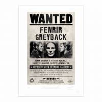 MinaLima - Fenrir Greyback Wanted Notice Print
