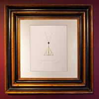 MinaLima - Deathly Hallows Pendant Print